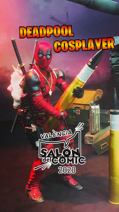 Deadpool at Salon Comic in Valencia 2020